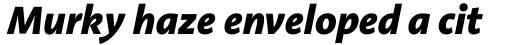Aroma ExtraBold Italic sample