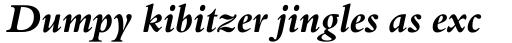 Aldine 401 Bold Italic sample