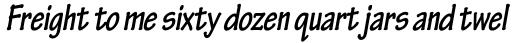 Tekton Pro Condensed Bold Oblique sample