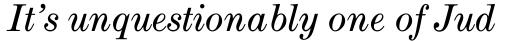 Modern Extended Book Italic sample
