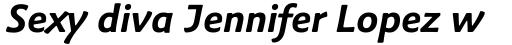 Palatino Sans Informal Bold Italic sample