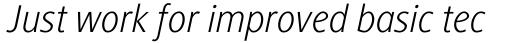Generis Sans Com Light Italic sample