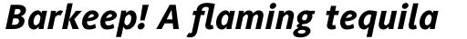Generis Sans Com Heavy Italic sample