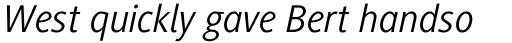 Generis Sans Com Italic sample