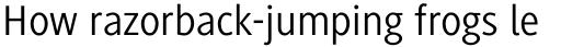 Generis Sans Com Regular sample