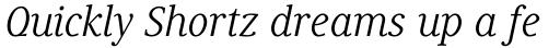 Generis Serif Com Italic sample