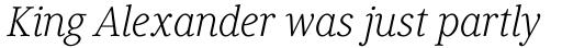 Generis Serif Com Light Italic sample