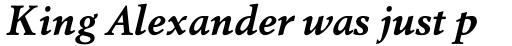 Berling Nova Pro Text Bold Italic sample