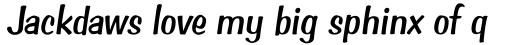 Cedar Key Italic sample