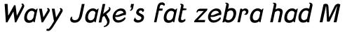 Strangelove Bold Italic sample