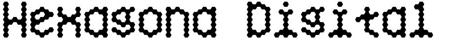 Click to view Hexagona Digital font, character set and sample text