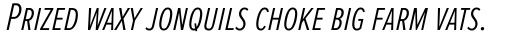 Proxima Nova S ExtraCond Light Italic sample