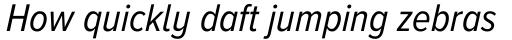 Proxima Nova A Cond Italic sample