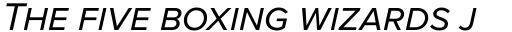 Proxima Nova S Italic sample