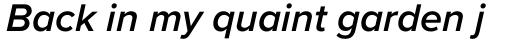 Proxima Nova SemiBold Italic sample