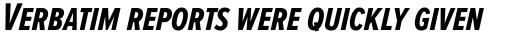 Proxima Nova S ExtraCond Bold Italic sample