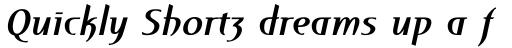 Perceval Bold Italic sample