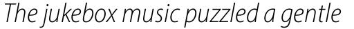 Myriad Pro SemiCond Light Italic sample