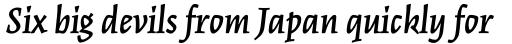Kinesis Std SemiBold Italic sample