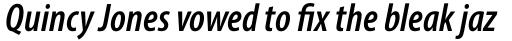Myriad Pro Cond SemiBold Italic sample