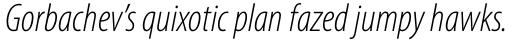 Myriad Pro Cond Light Italic sample