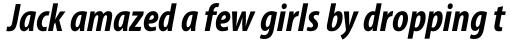 Myriad Pro Cond Bold Italic sample
