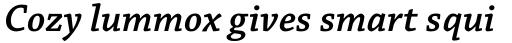 Chaparral Pro SemiBold Italic sample