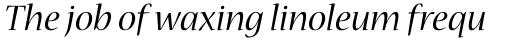 Nueva Std Italic sample