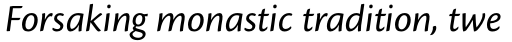 Cronos Pro Italic sample