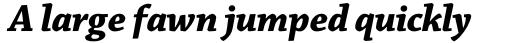 Chaparral Pro SubHead Bold Italic sample