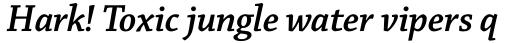 Chaparral Pro SubHead SemiBold Italic sample