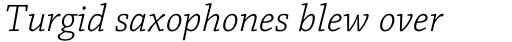 Chaparral Pro Caption Light Italic sample