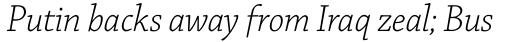 Chaparral Pro SubHead Light Italic sample