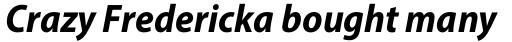 Myriad Pro SemiCond Bold Italic sample
