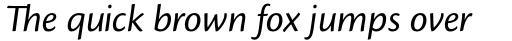 Cronos Pro SubHead Italic sample