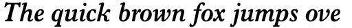 Italian Old Style MT Std Bold Italic sample