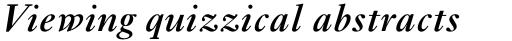 Ehrhardt MT Std SemiBold Italic sample