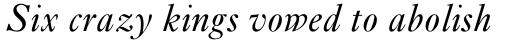 Ehrhardt MT Std Italic sample