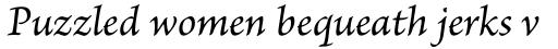 Brioso Pro Caption Italic sample