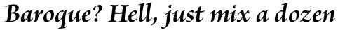 Brioso Pro SubHead Bold Italic sample
