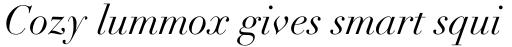 Didot LT Std Italic sample