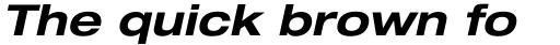 Helvetica Neue LT Std 73 Bold Extended Oblique sample