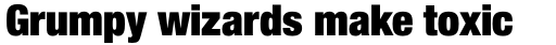 Helvetica Neue LT Std 107 ExtraBlack Condensed sample