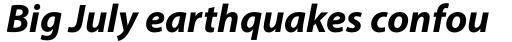 Myriad Pro Bold Italic sample