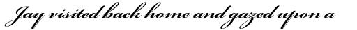 Bickham Script Pro Bold sample