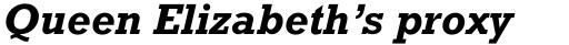 Rockwell Std Bold Italic sample