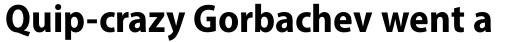 Myriad Pro SemiCond Bold sample