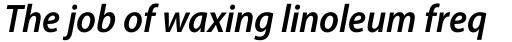 Myriad Pro SemiCond SemiBold Italic sample