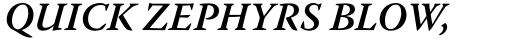Warnock Pro SemiBold Italic sample