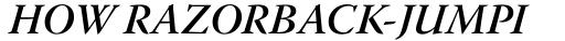 Warnock Pro SubHead SemiBold Italic sample